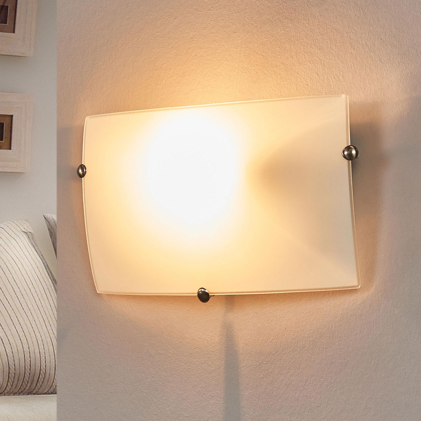Diskret Liria-1 væglampe i glas