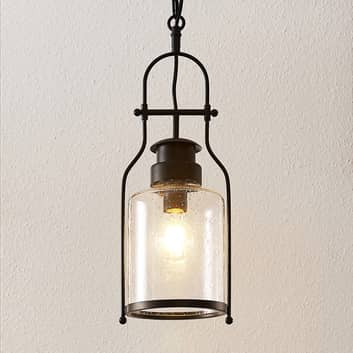 Lindby Rozalie lampada a sospensione lanterna nero