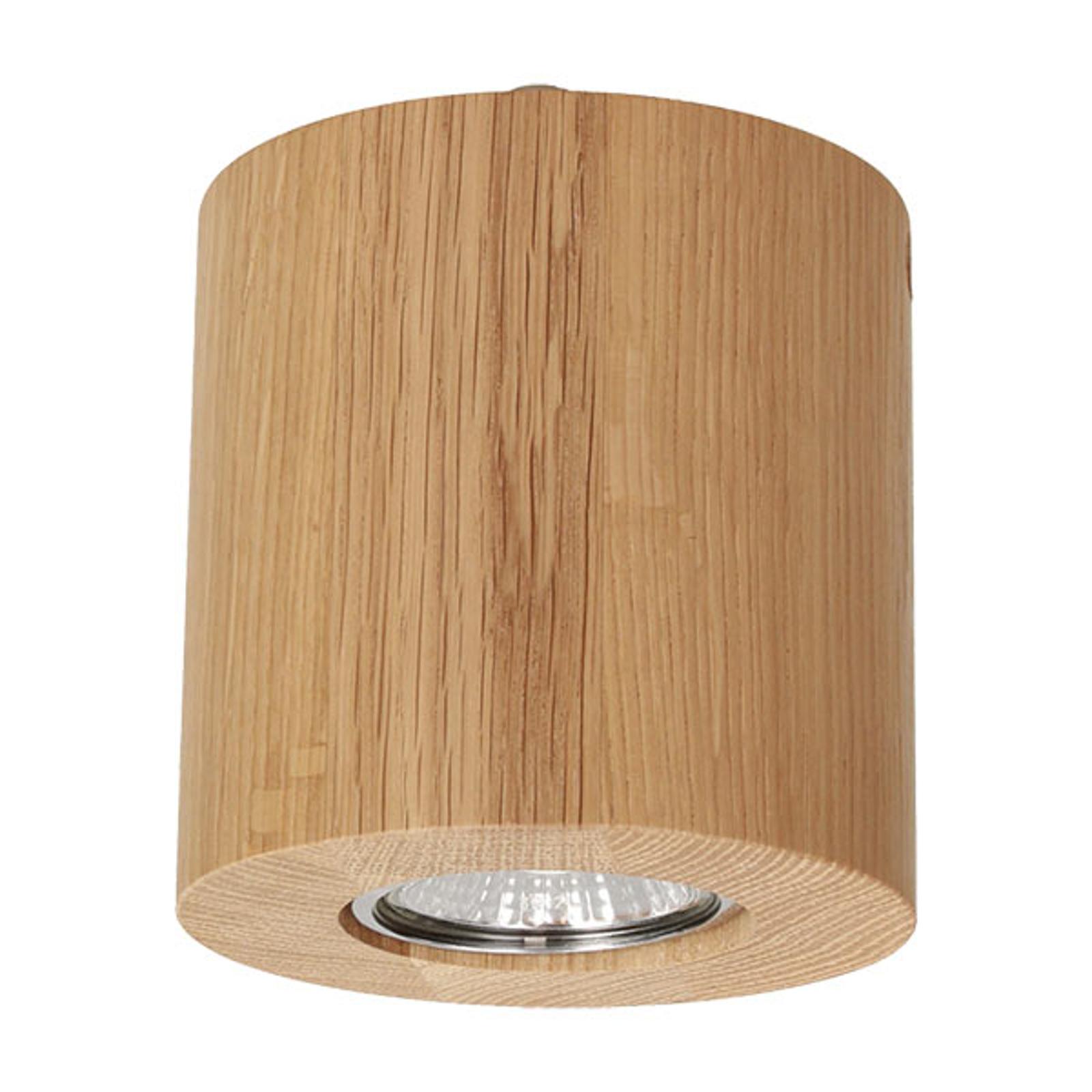 Plafonnier Wooddream à 1 lampe, chêne, rond