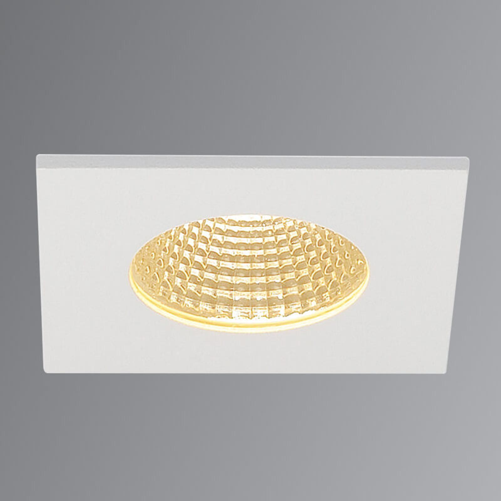 SLV Patta-I LED-Einbauleuchte eckig, weiß matt