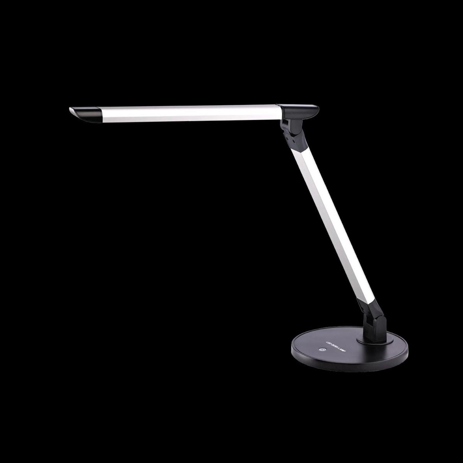 Vikbar LED-bordslampa Chris med dimmer