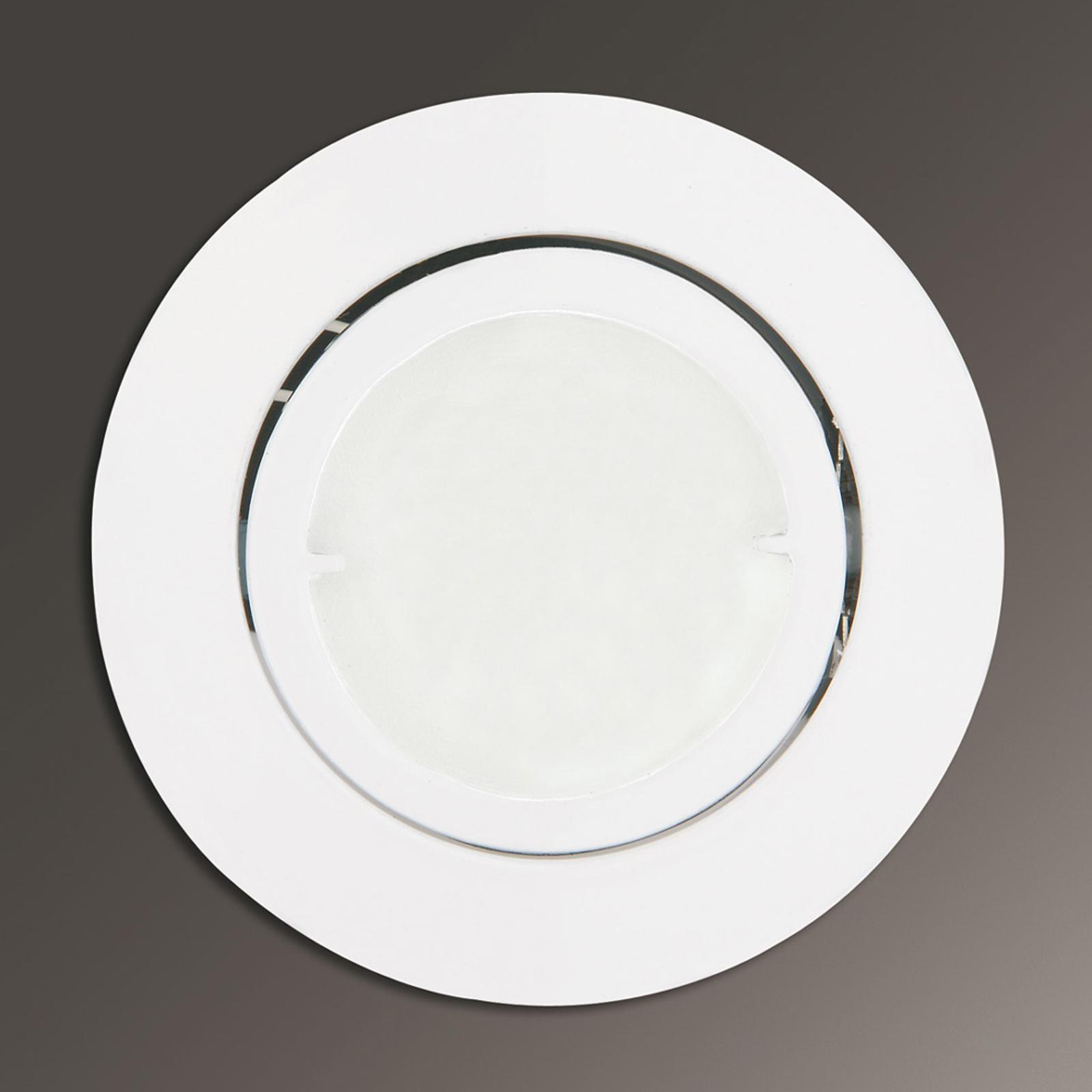 Joanie - LED-inbyggnadslampa i vitt, rund