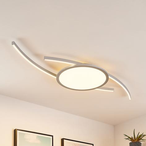 Lucande Tiaro -LED-kattovalaisin, pyöreä, CCT