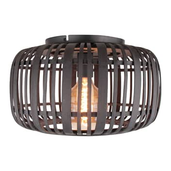 Woodrow loftlampe med burskærm i bambus