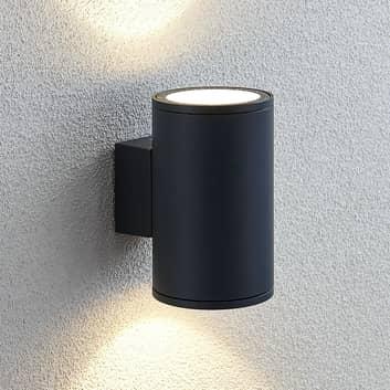 LED-utomhusvägglampa Visavia, 2 ljuskällor