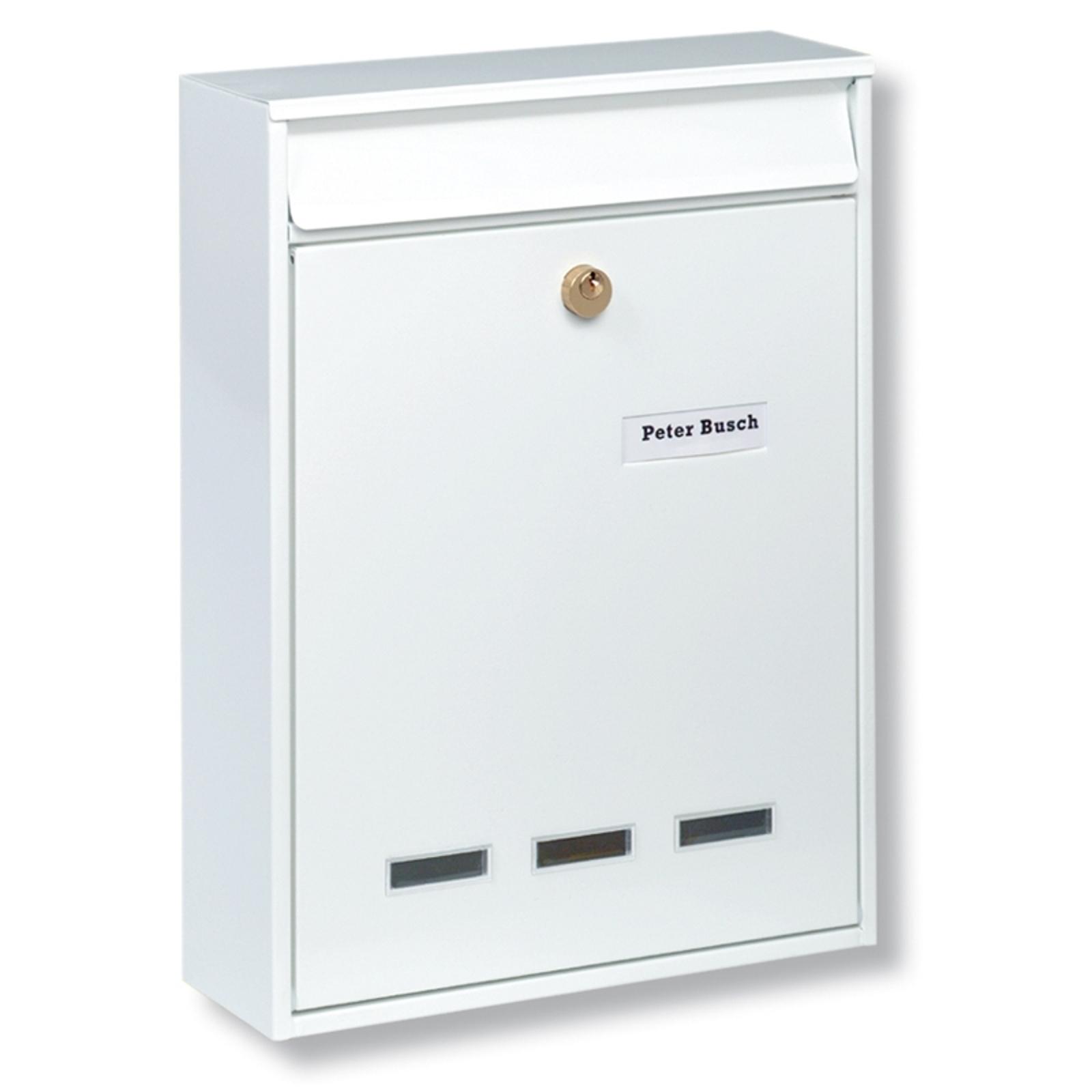 Hvitt KÖLN postkasseanlegg for DIN A4-format