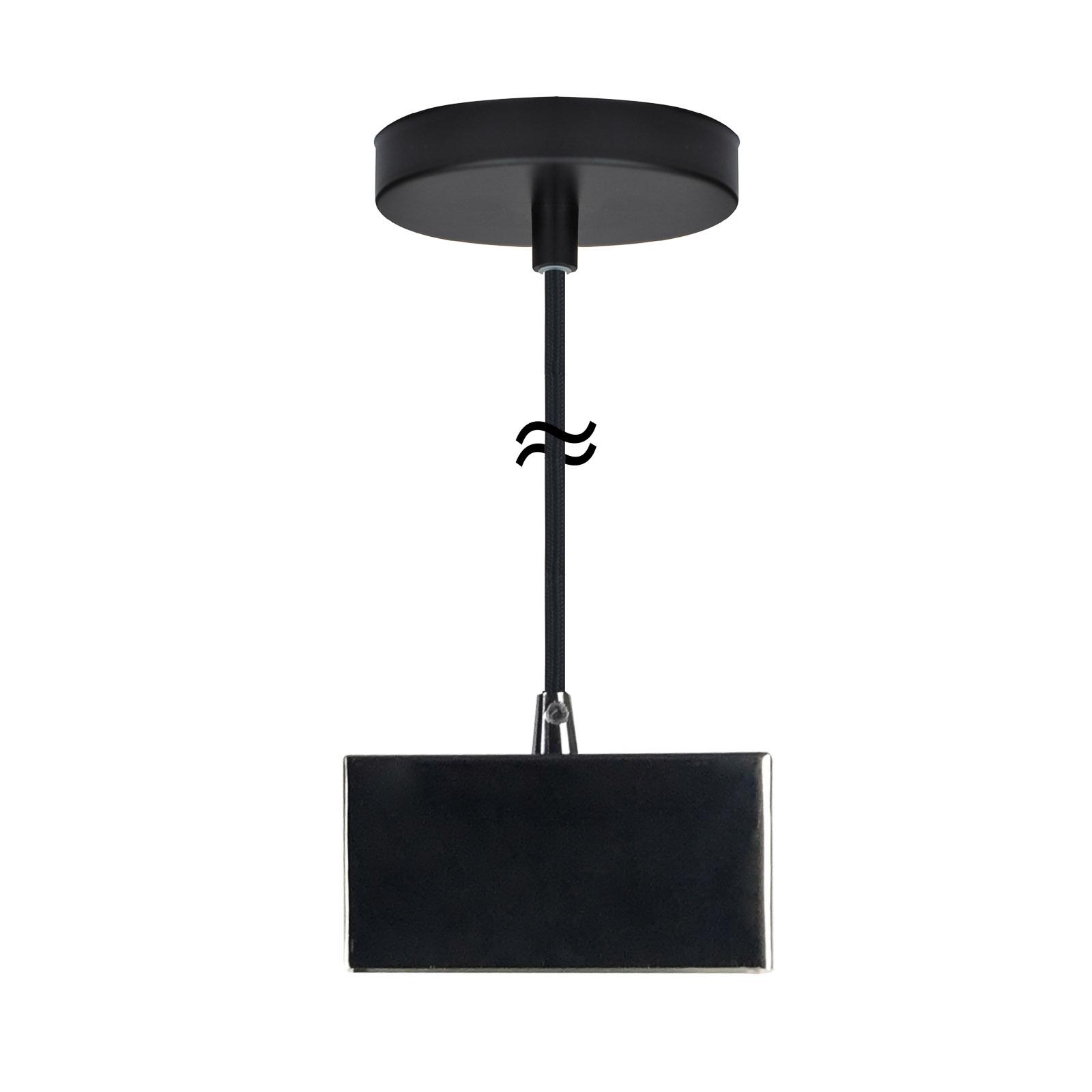 SEGULA Reno Hängeleuchte in Schwarz für S14d-Lampe