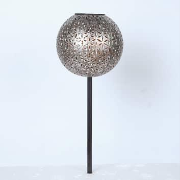 Solcellslampa 33628 livsblomma markspett silvergrå