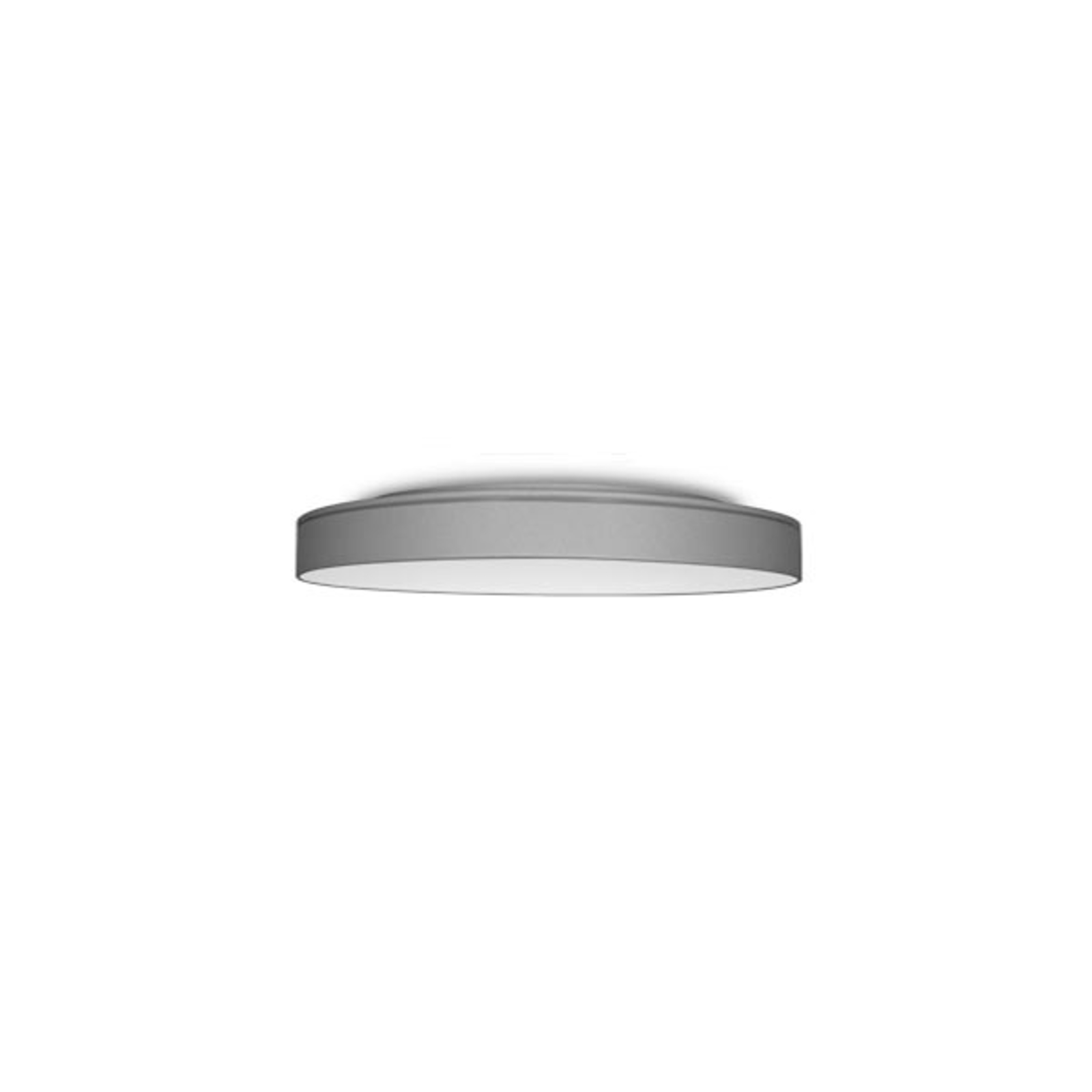 LED-Deckenleuchte Lunata Small Effektring silber