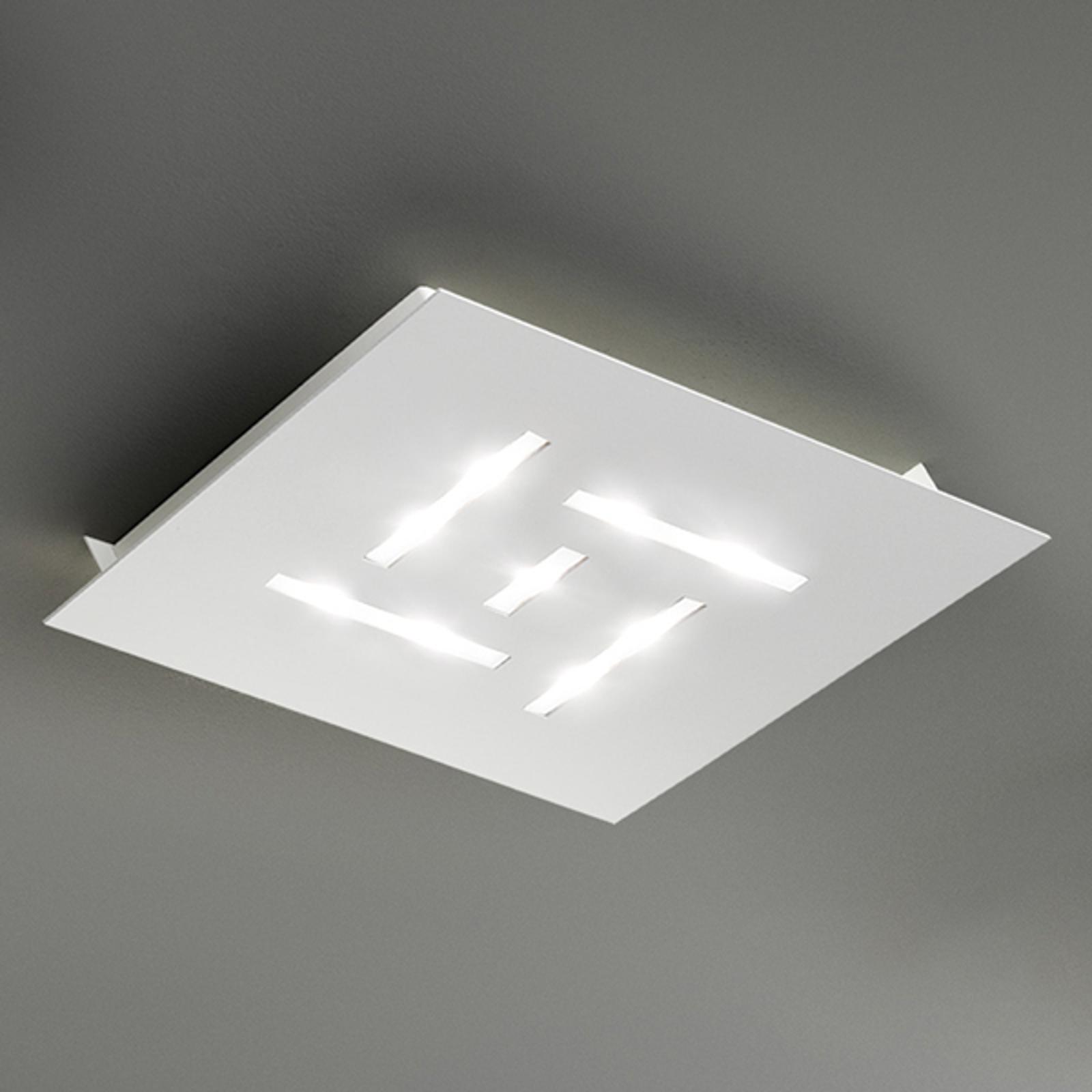 Ultraflat LED-taklampe Pattern, hvit