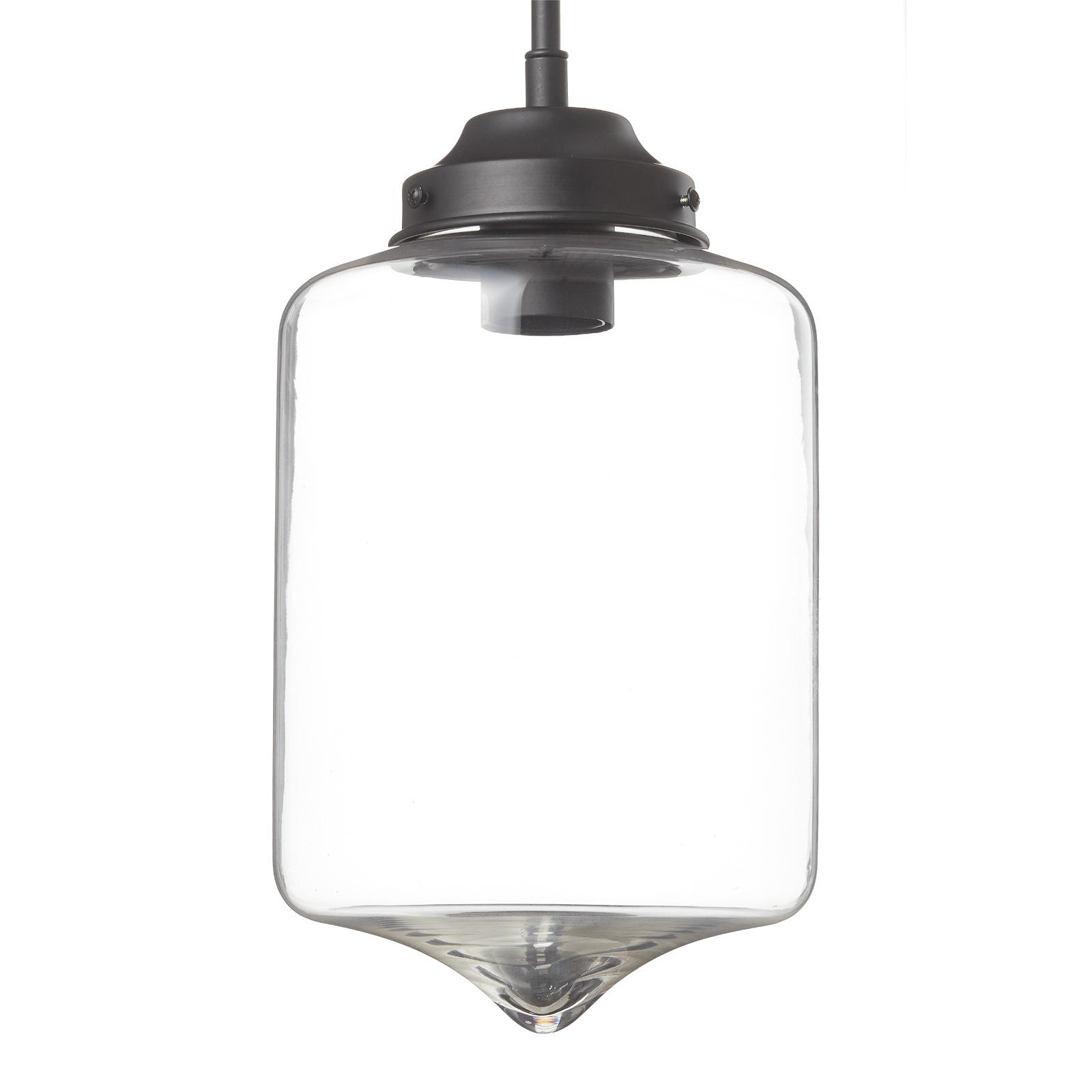 Lampa wisząca LA011 rura E27 szklany klosz