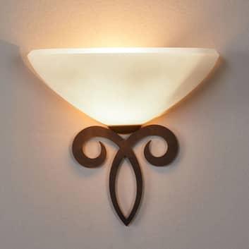 Wandlampe Luca im Landhausstil, Schirm weiß