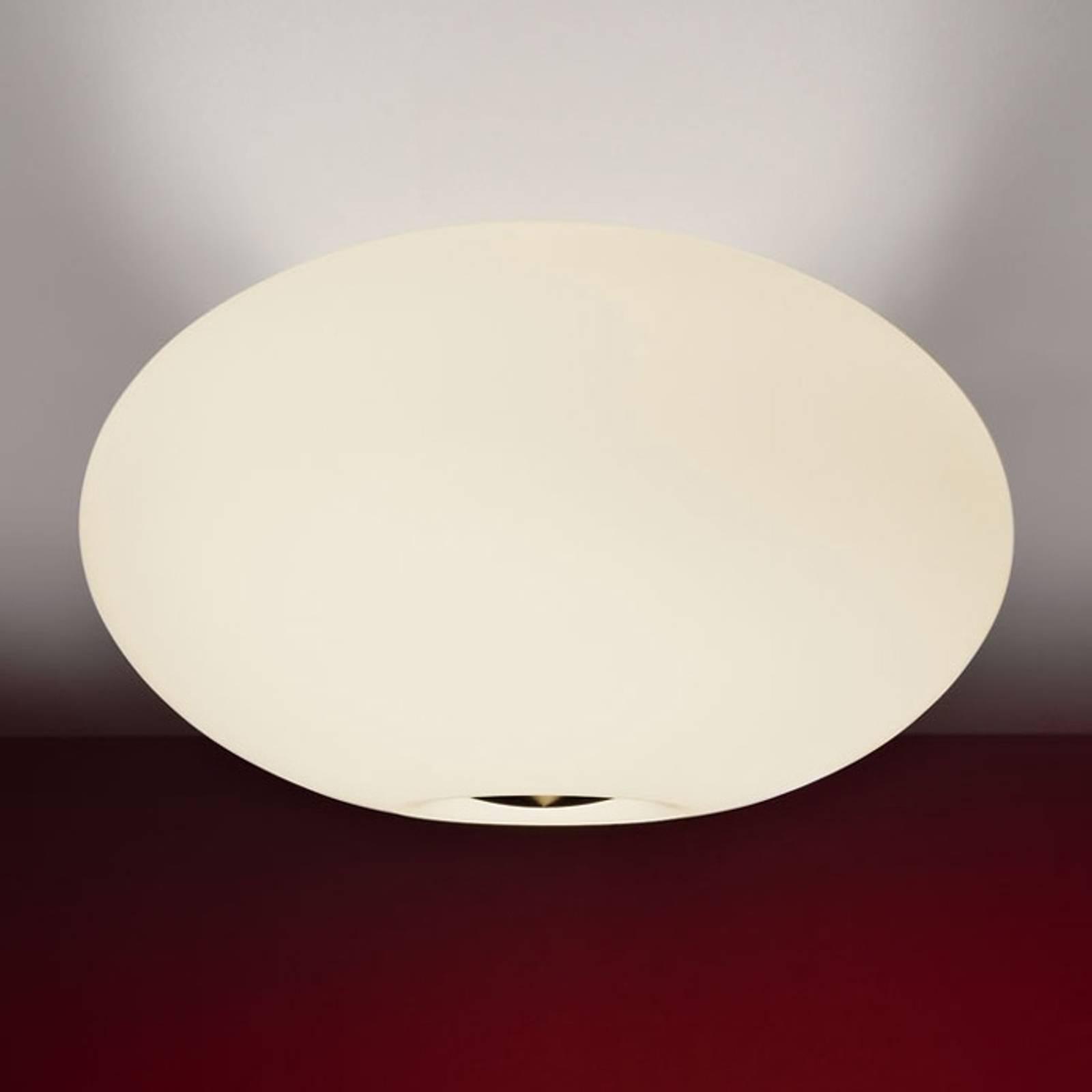 Fraaie plafondlamp AIH, 38 cm, crème mat