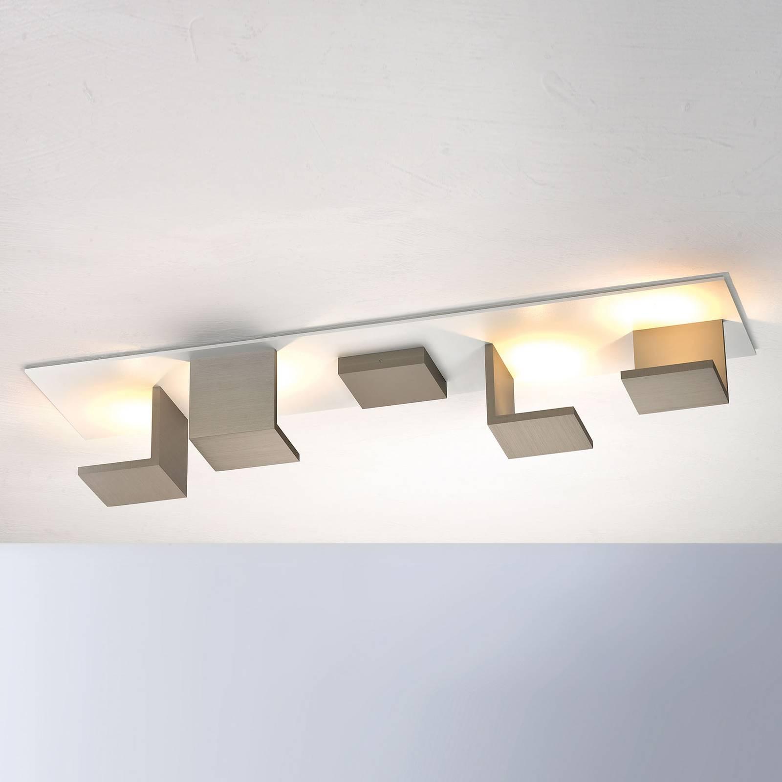 Bopp Reflections lampa sufitowa długa biała/taupe