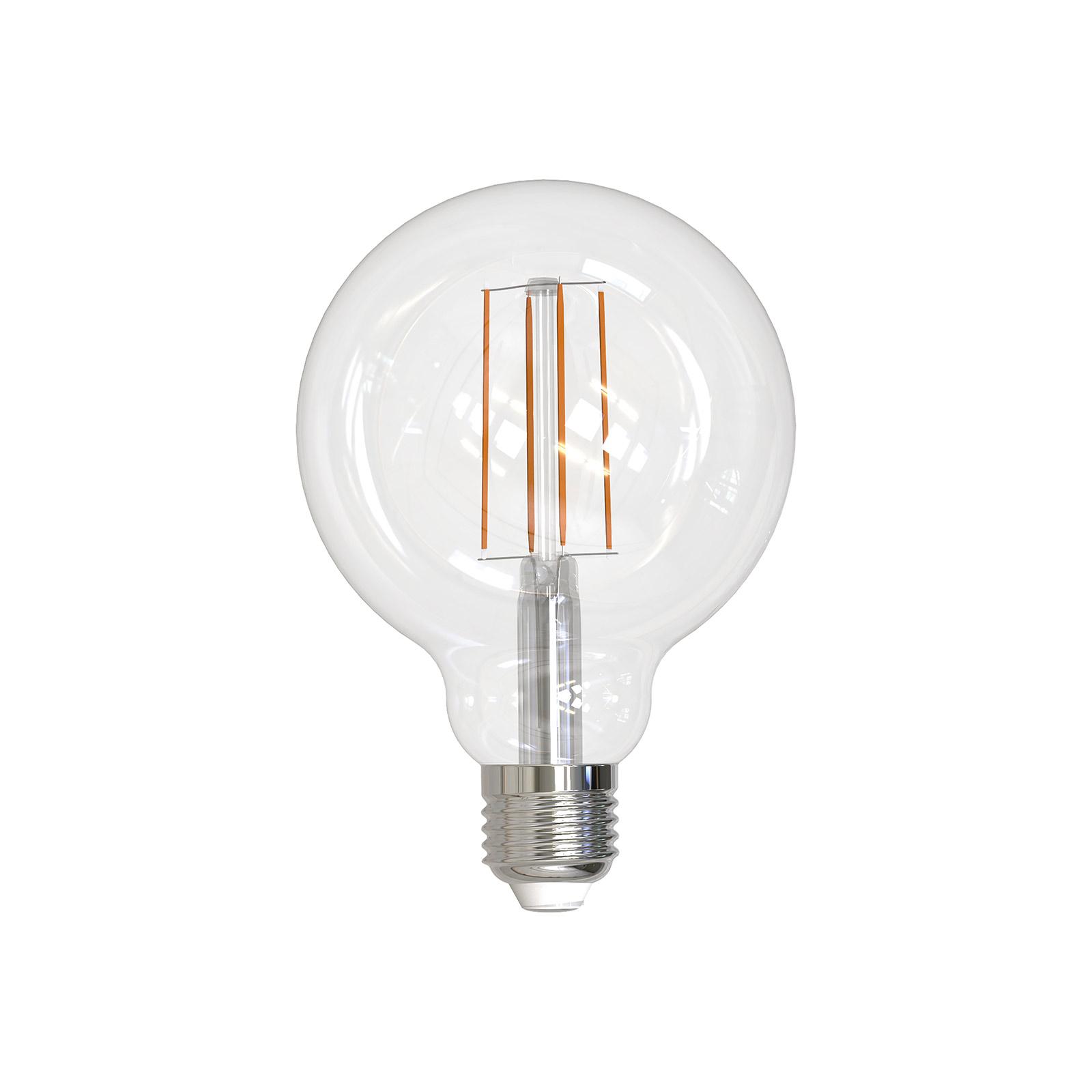 LED-Globelampe E27 G95 9W 2.700K Filament klar