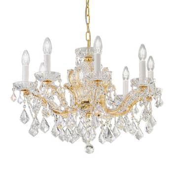 KOLARZ Maria Louise lustre, doré 24 ct, 8 lampes