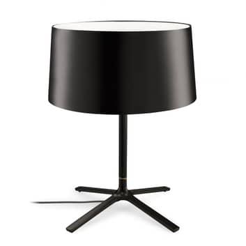 Grok Hall lampa stołowa z kloszem z tkaniny czarna