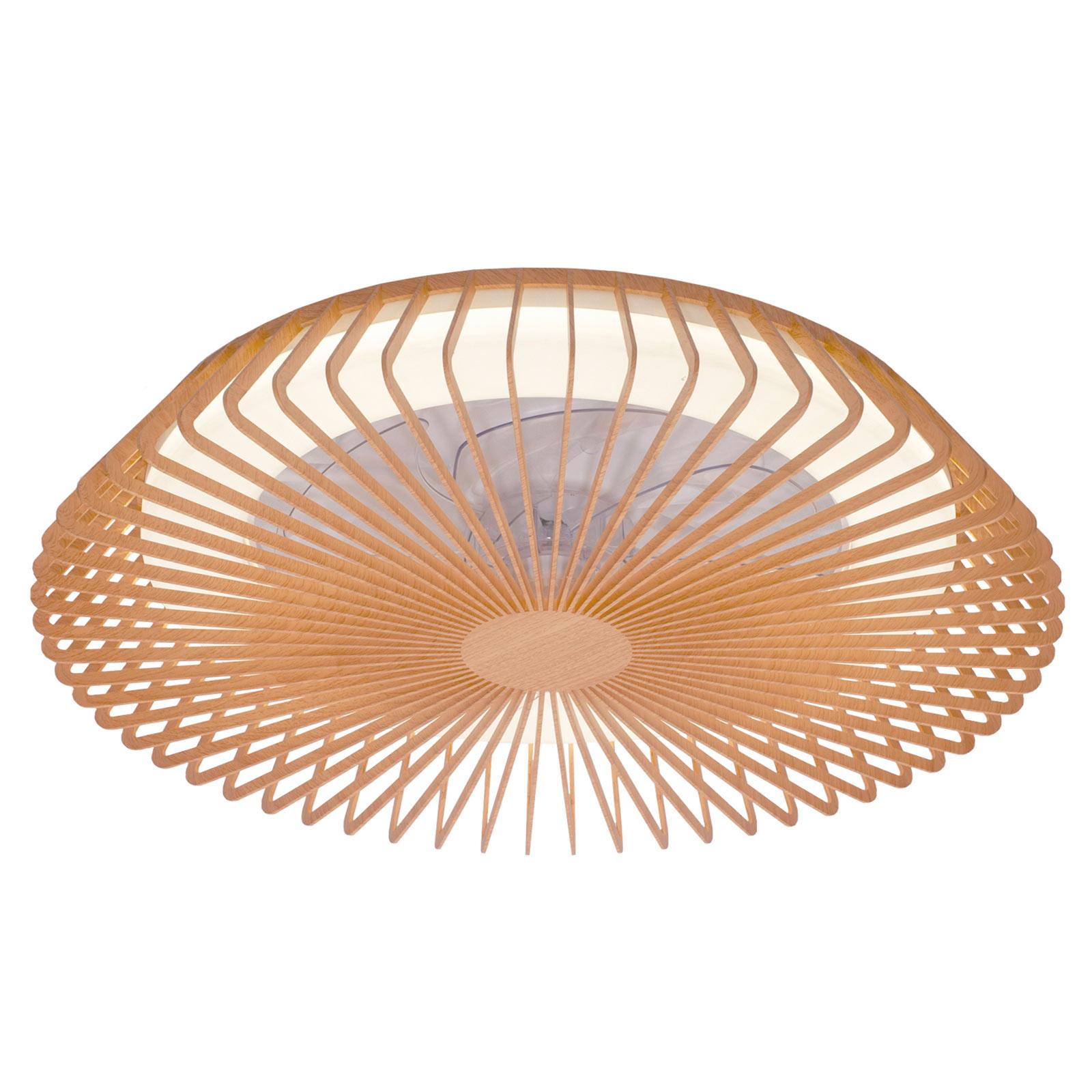 Acquista Ventilatore a pale Himalaya, luce LED, legno