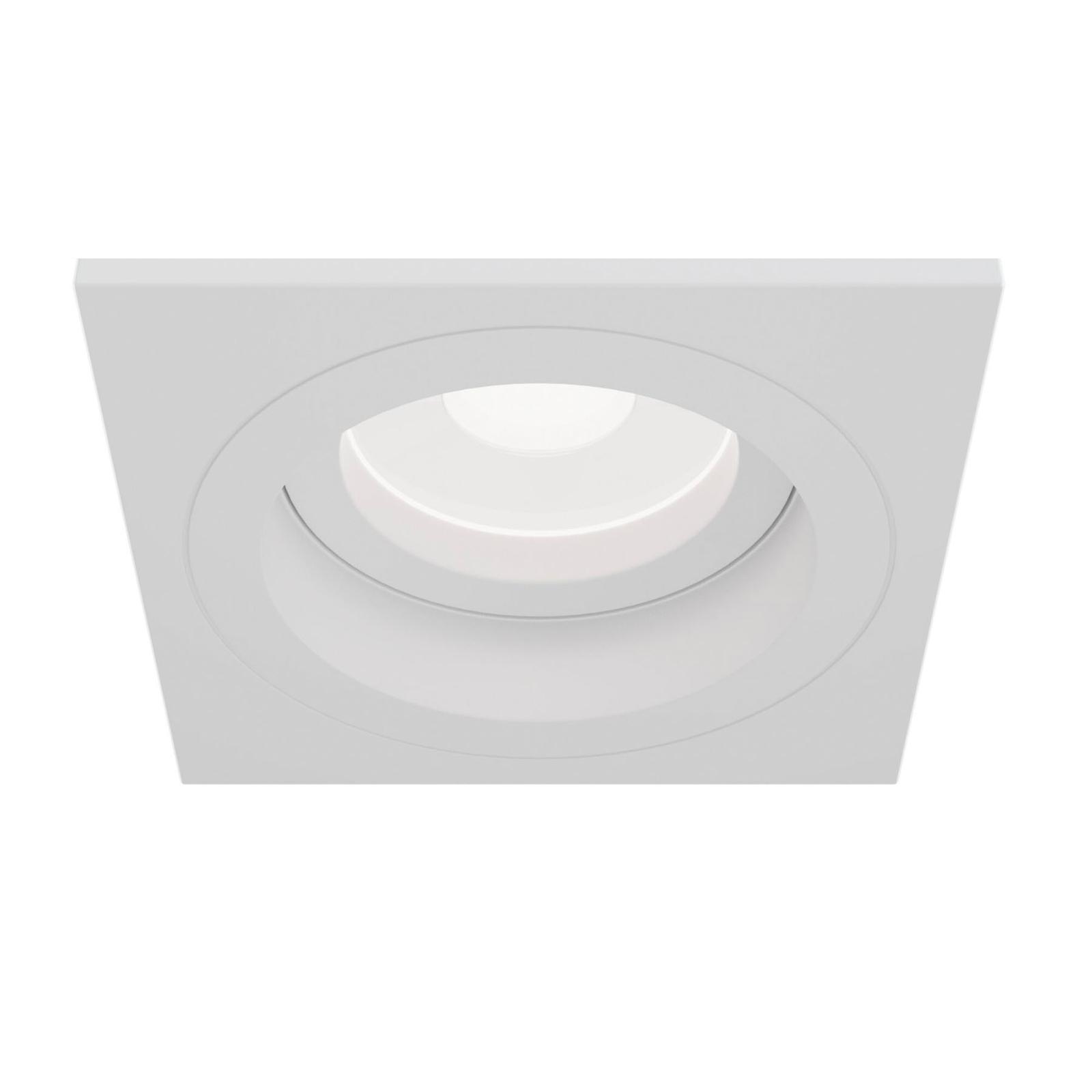 Akron indbygningslampe, justerbar, kantet, hvid