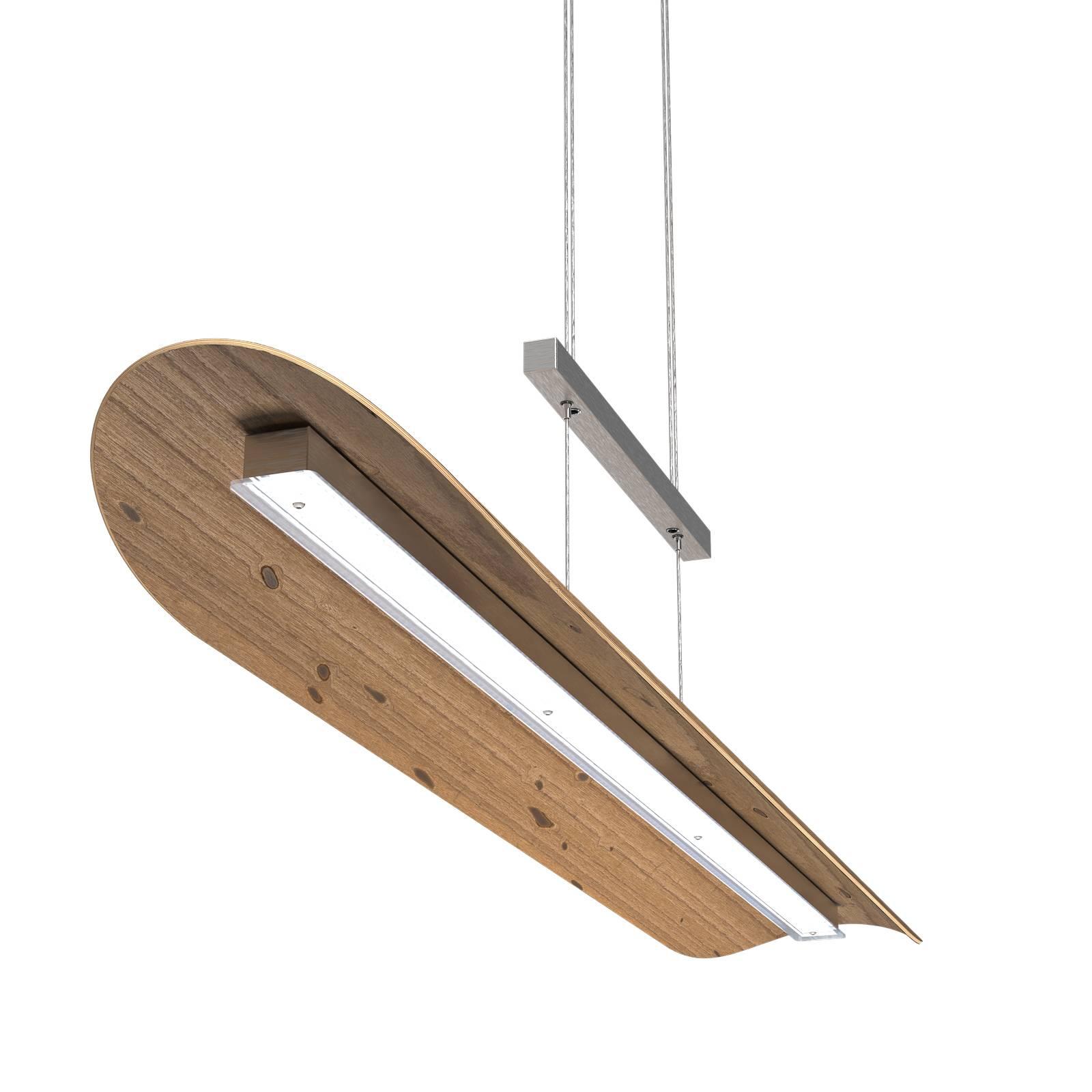 LED-Pendelleuchte Colombia XL, Asteiche natur