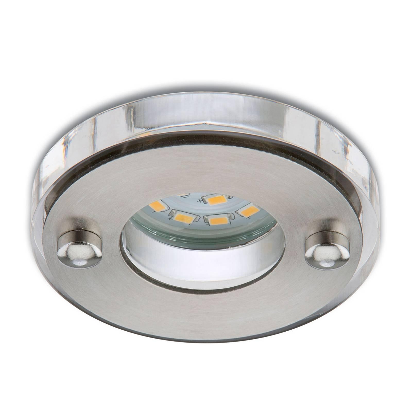 Mat-nikkelkleurige LED inbouwspot Nikas IP23
