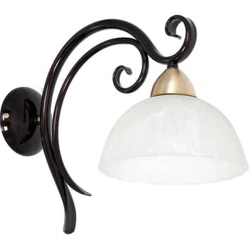 Lampa ścienna Aurora, szkło i metal, 1-punktowa