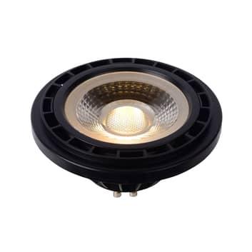 LED reflector GU10 12W 3000K dim to warm, zwart