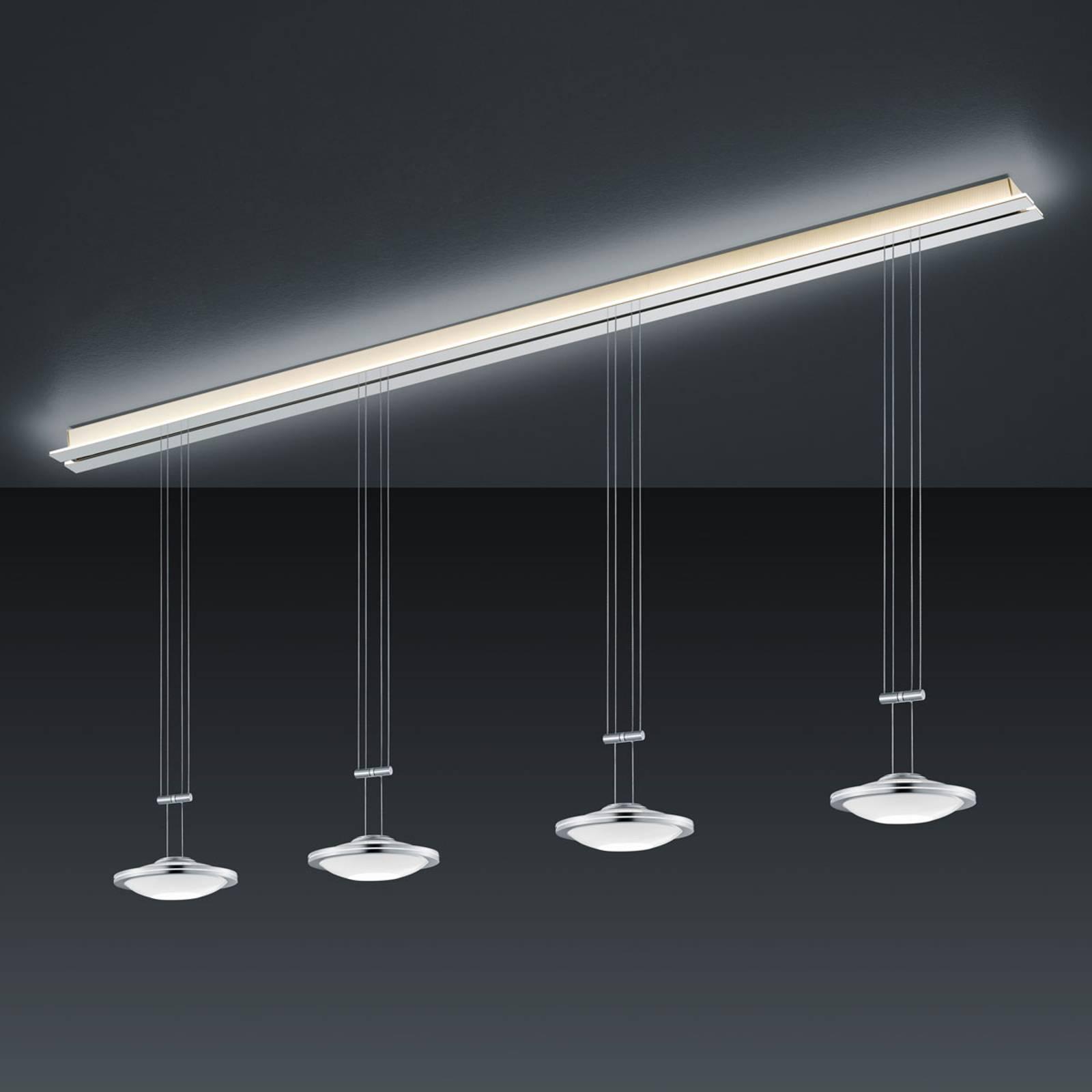 BANKAMP Strada Saturno hanglamp, 4-lamps, 185 cm