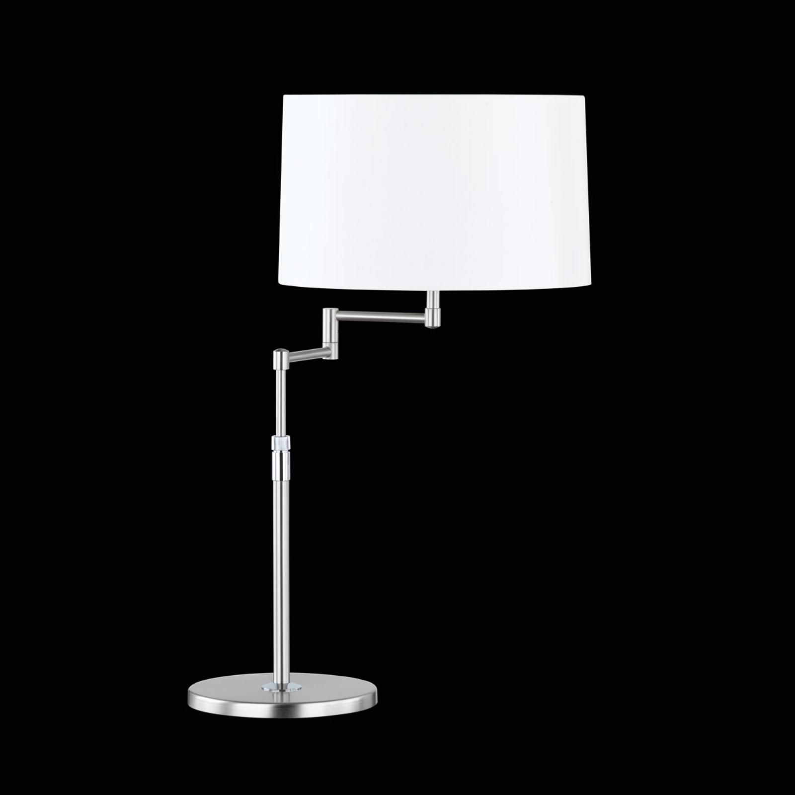 Uitnodigende tafellamp Loop met sits-kap