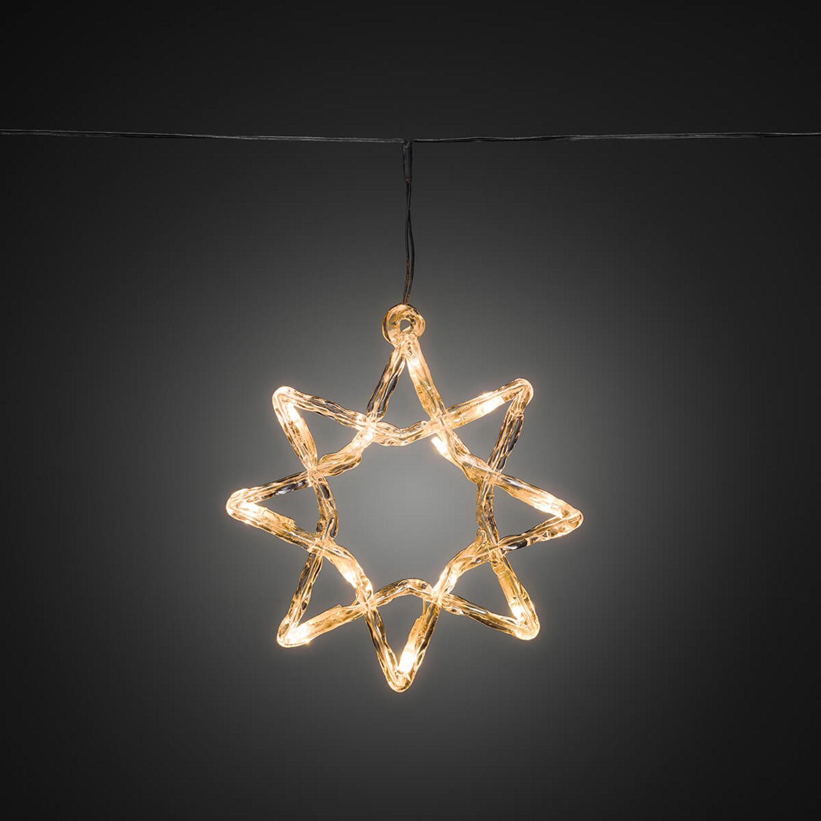 LED-Lichterkette 8-Zacker-Sterne