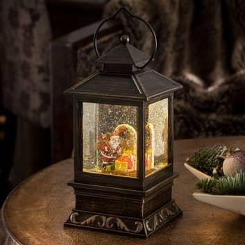 Lanterne décorative Père Noël et enfants