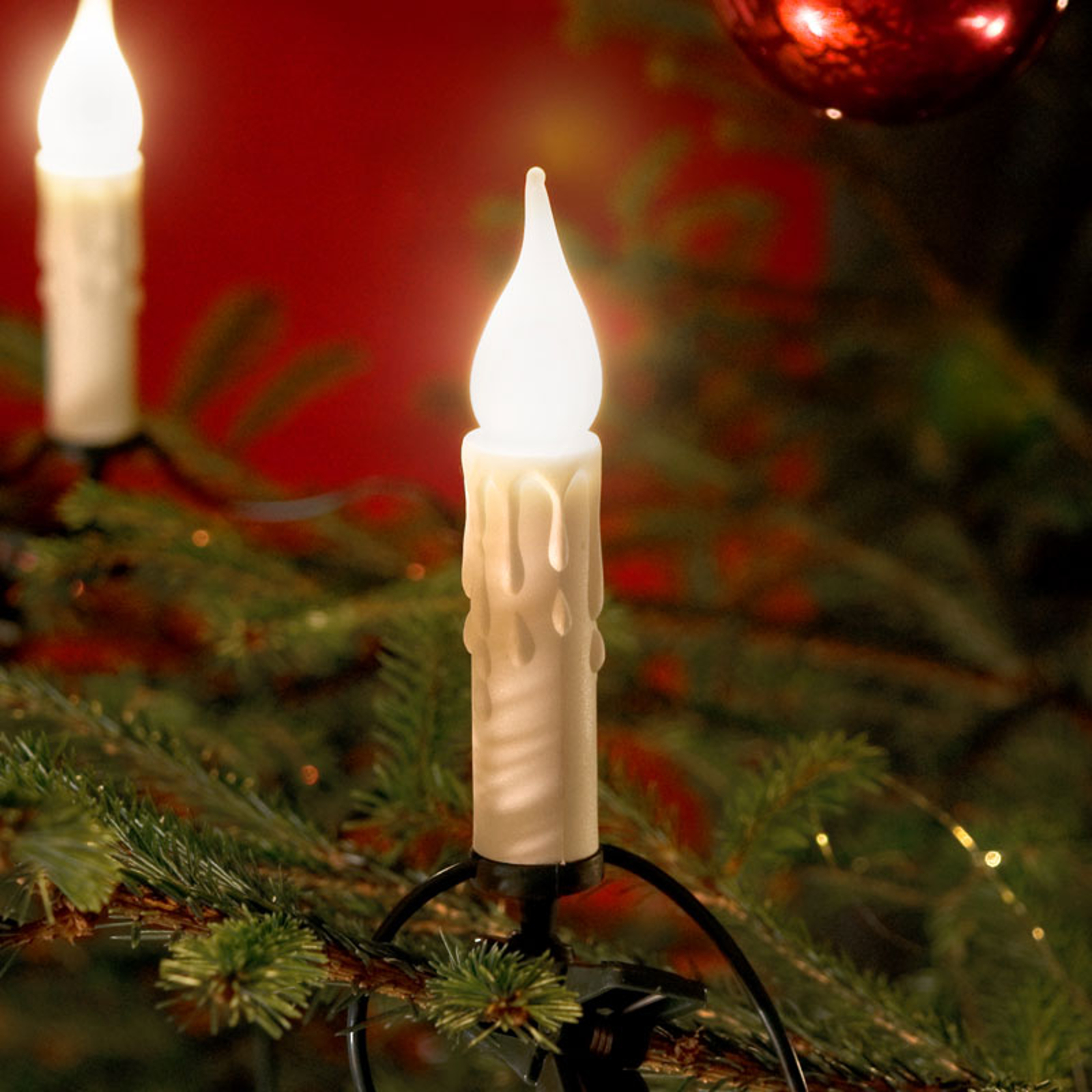 20 lys Lyslenke med pærer og voksoptikk, 14,8 m