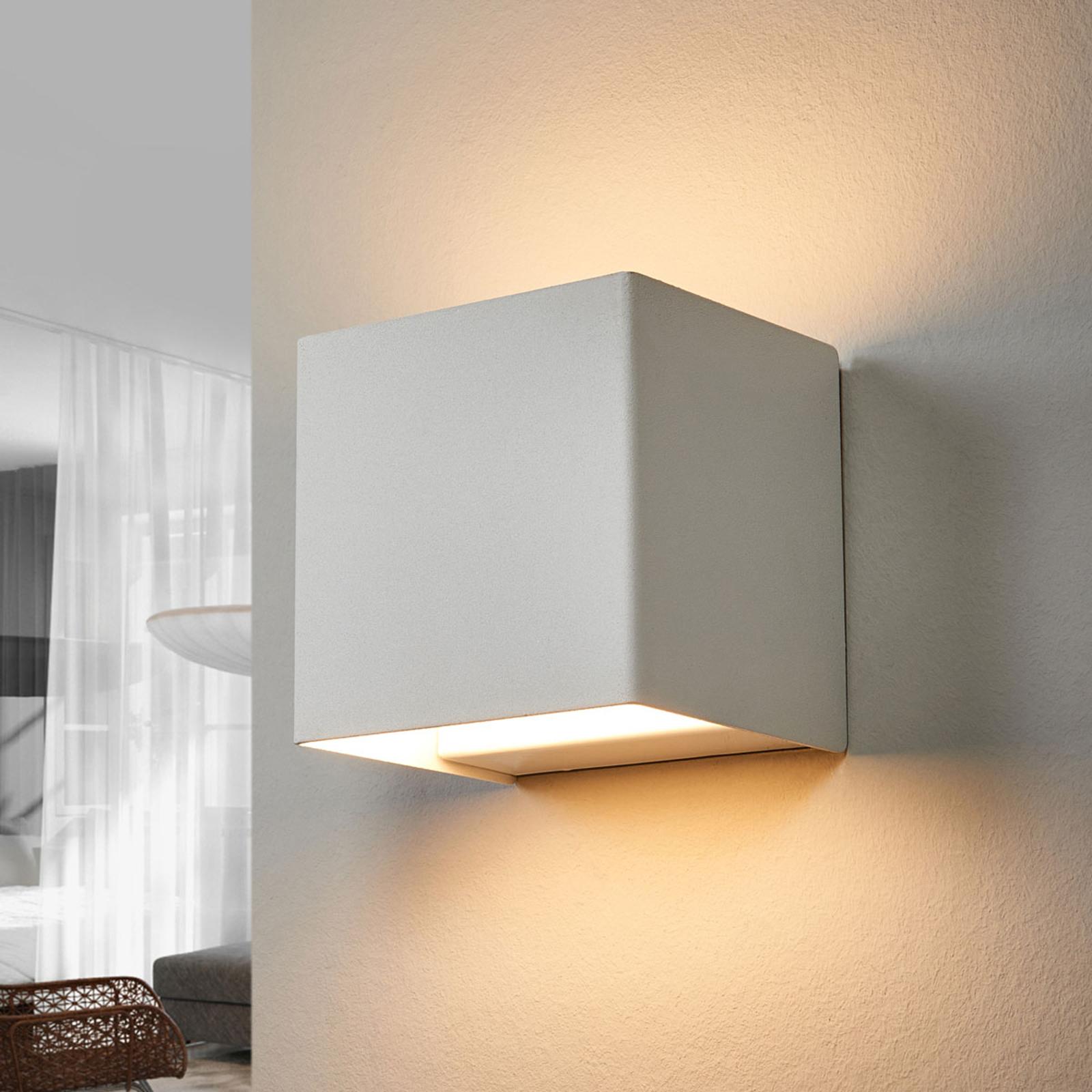 LED-Wandleuchte Kimberly, 9x9cm, weiß