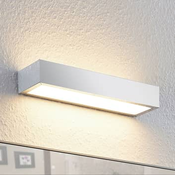 Lindby Layan aplique LED para baño, cromo, 30 cm