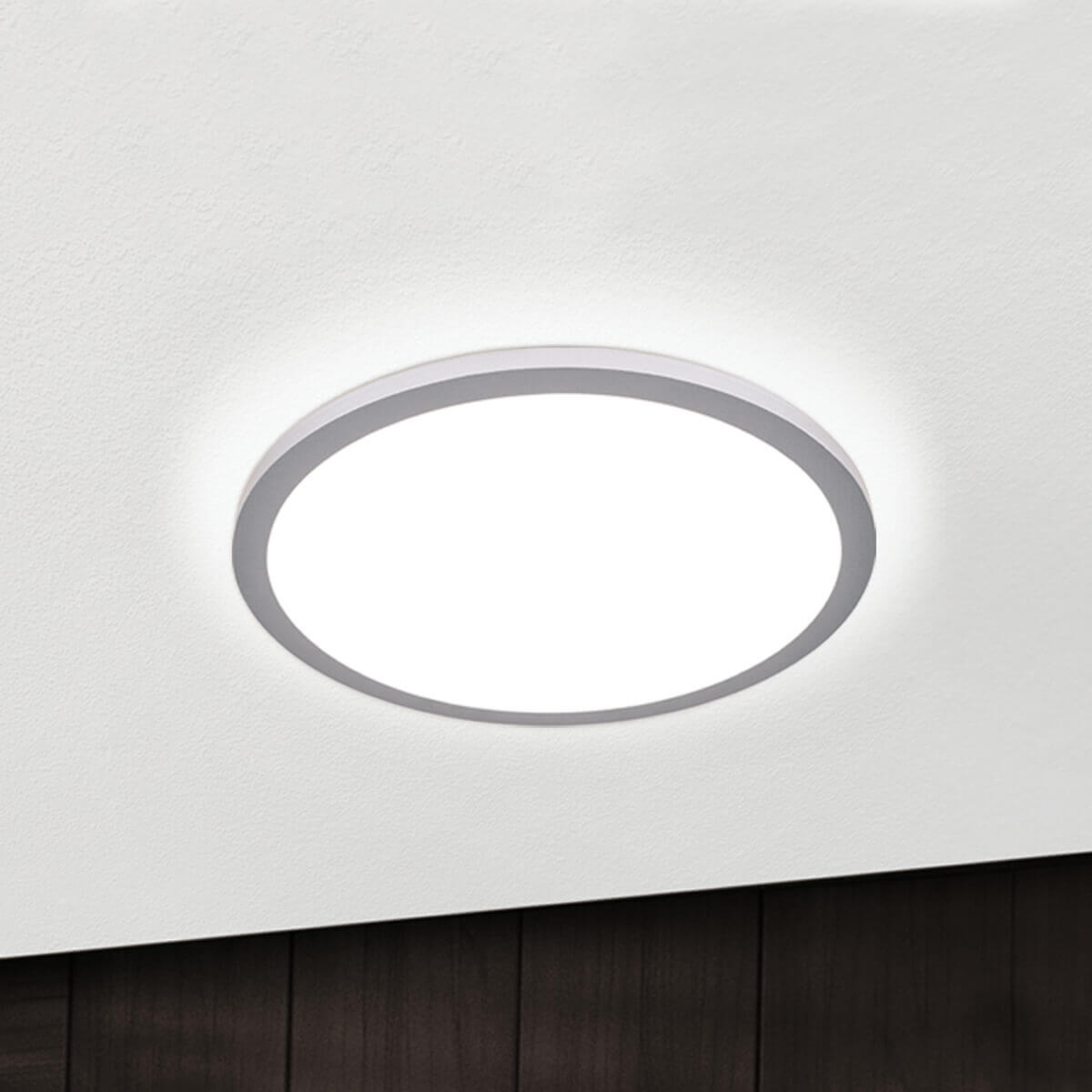 Acquista Plafoniera LED Aria color titanio, dimmerabile