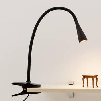 Filigranowa lampa zaciskowa LED Baris w czerni