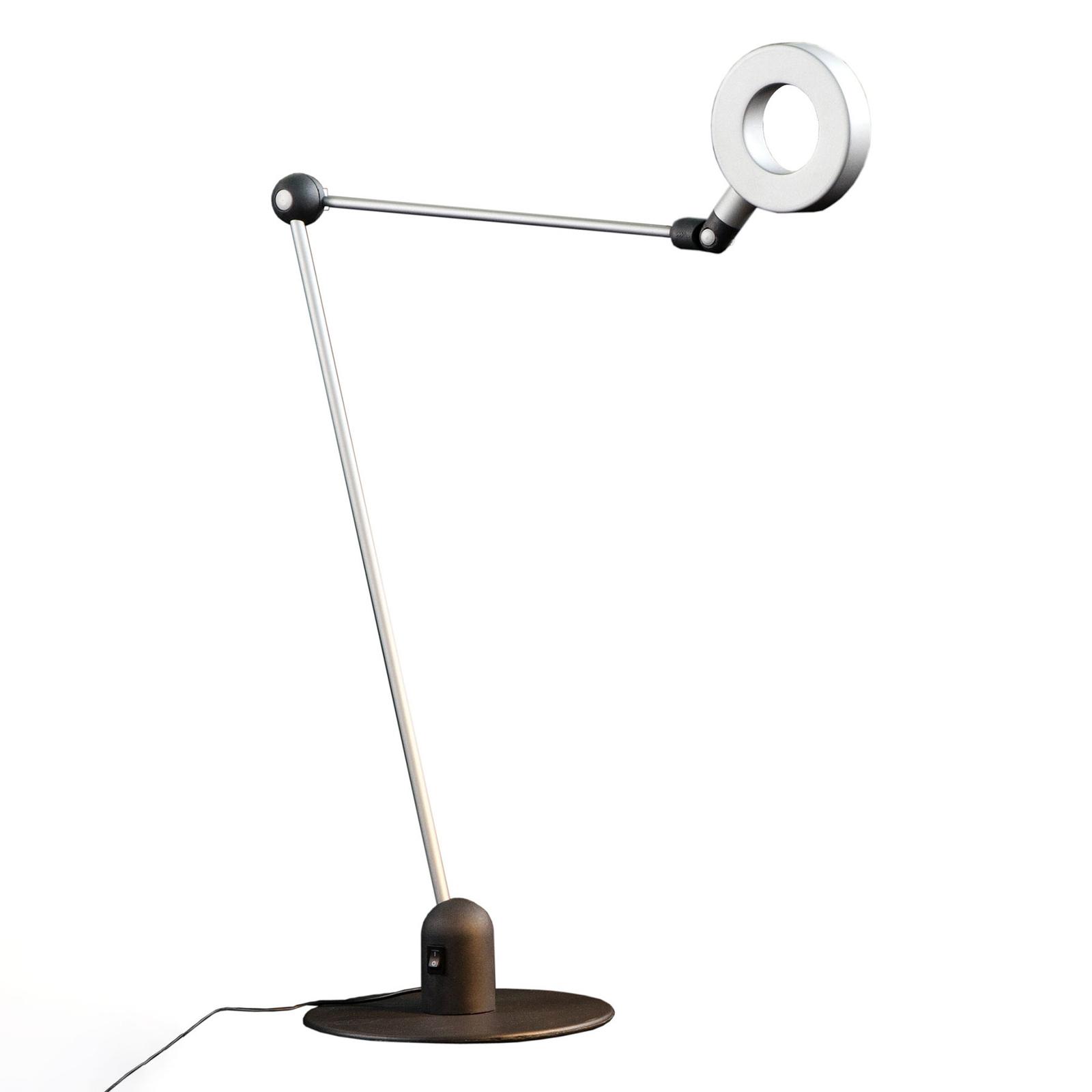 Martinelli Luce L'amica -LED-pöytävalaisin, harmaa