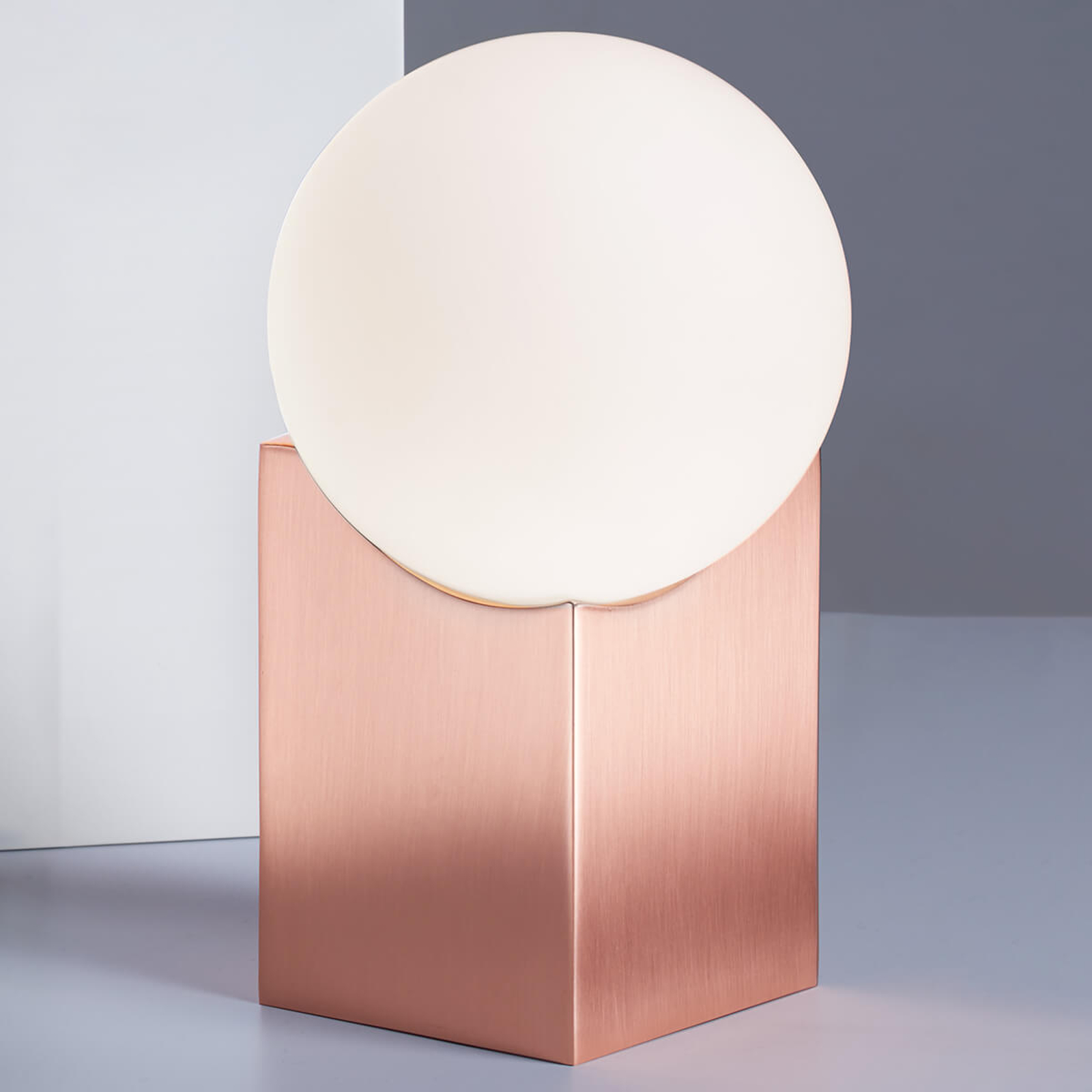 Lampada da tavolo Cub 17,5 cm rame