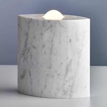 Egyptian Eye - marmor-gulvlampe med dæmper