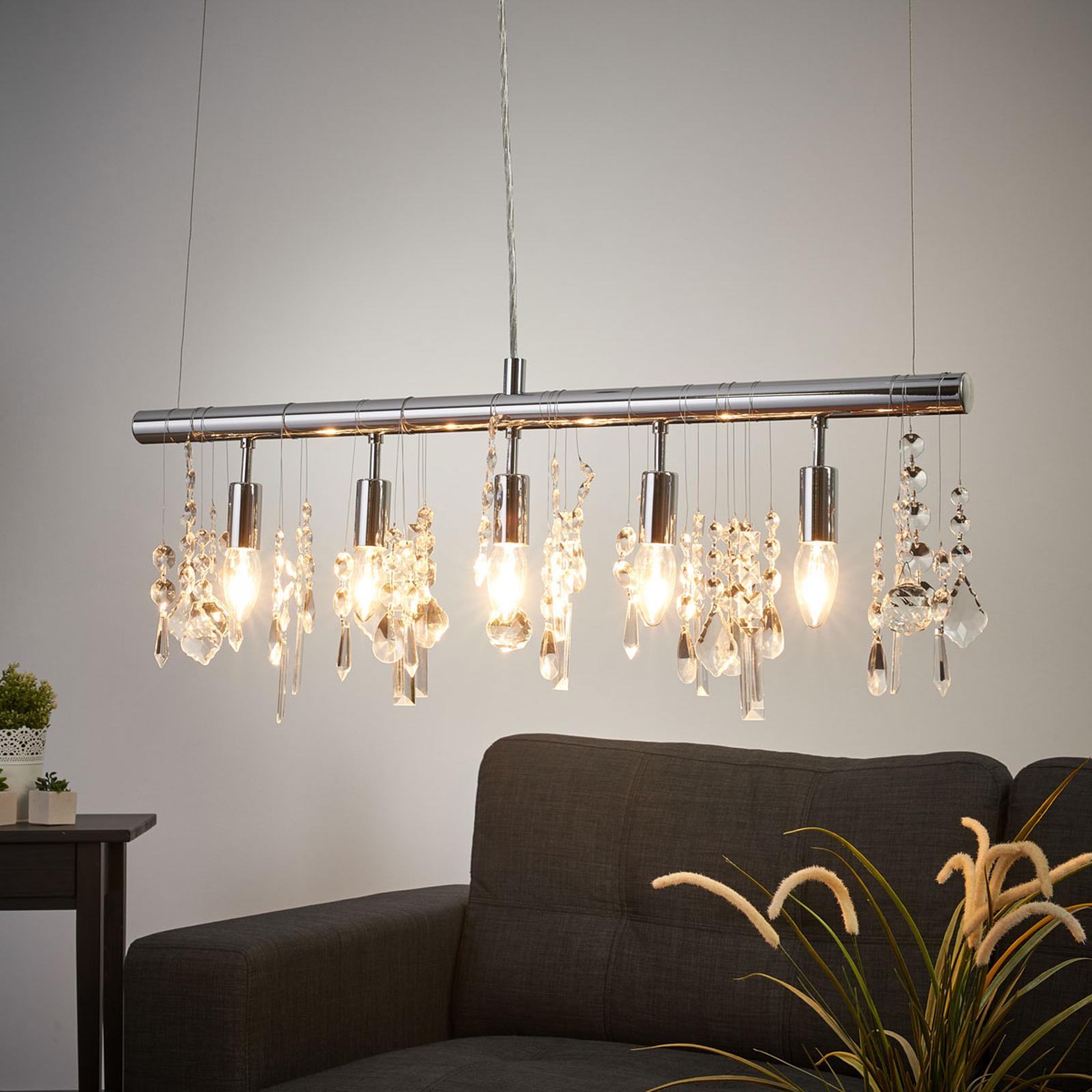 Trblietavá závesná lampa CRYSTAL_9651487_1