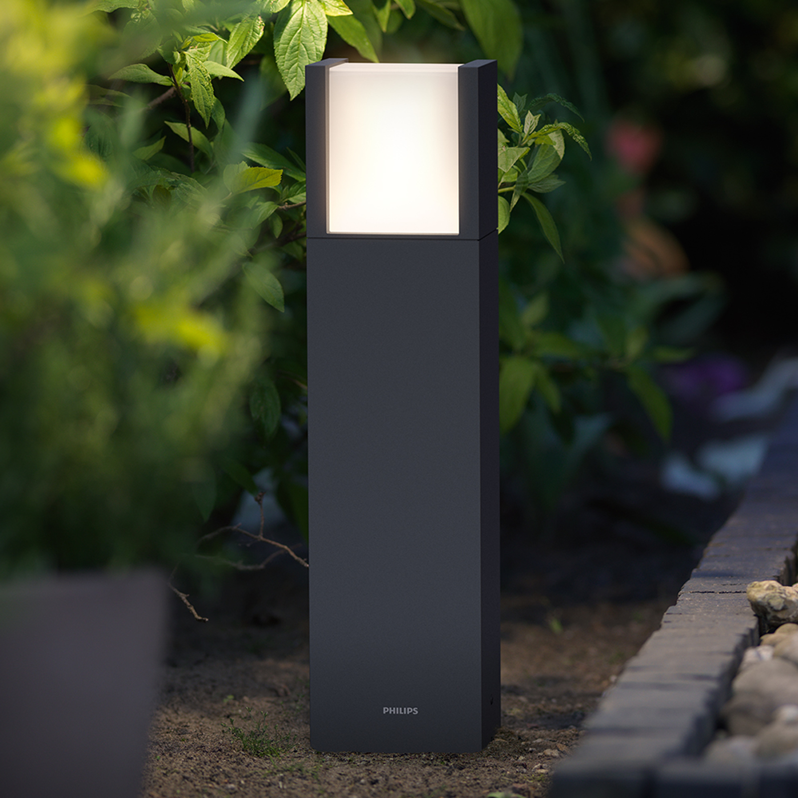 Philips Arbour LED pillar light anthracite IP44_7531802_1