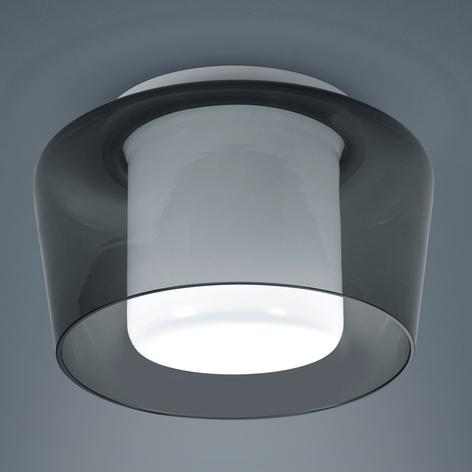 Helestra Canio stropní světlo, sklo, kouřově šedá