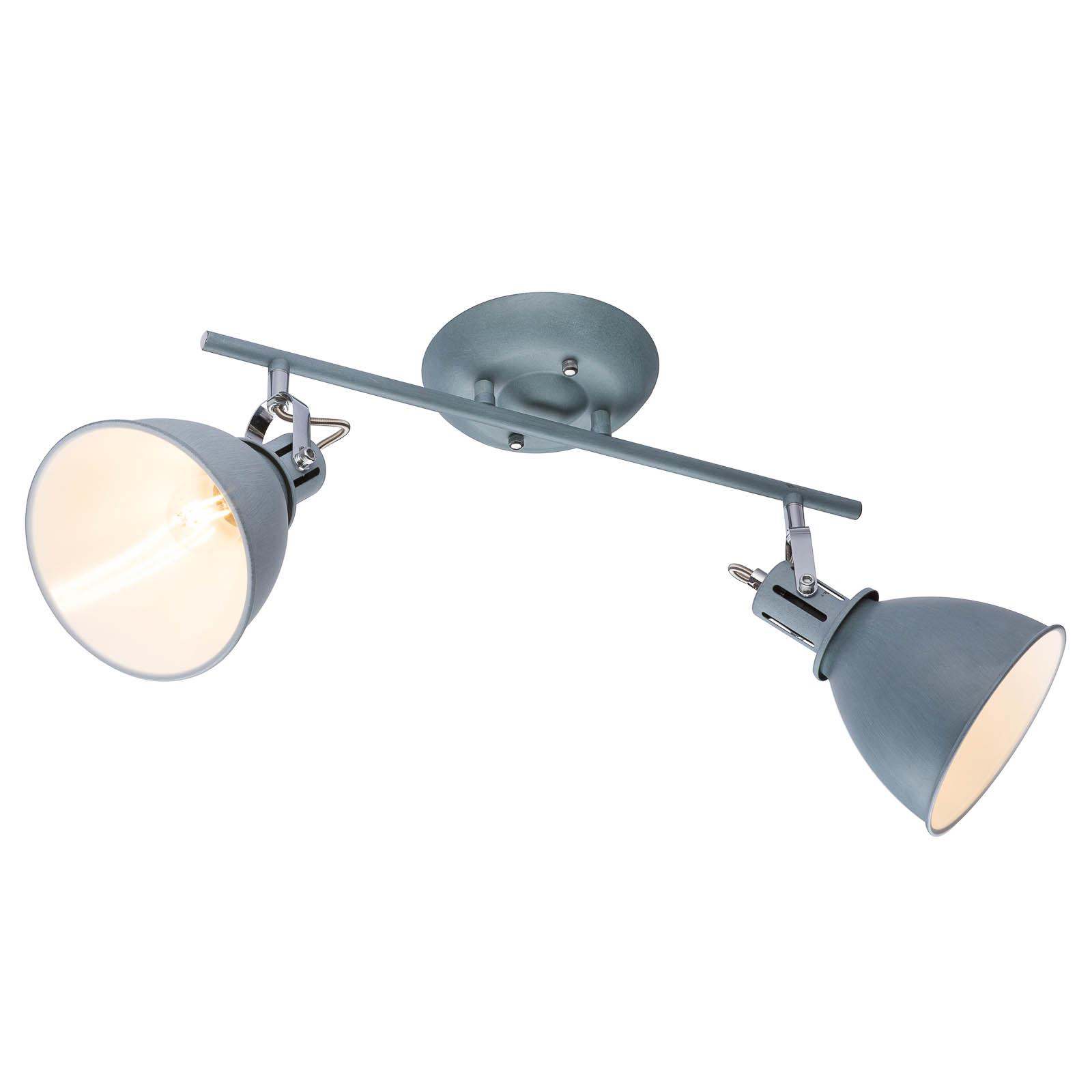 Spot pour plafond à deux lampes Jonas en gris