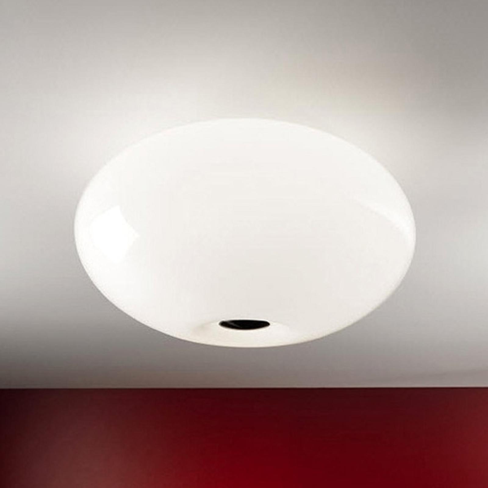 Taklampe AIH 28 cm skinnende hvit