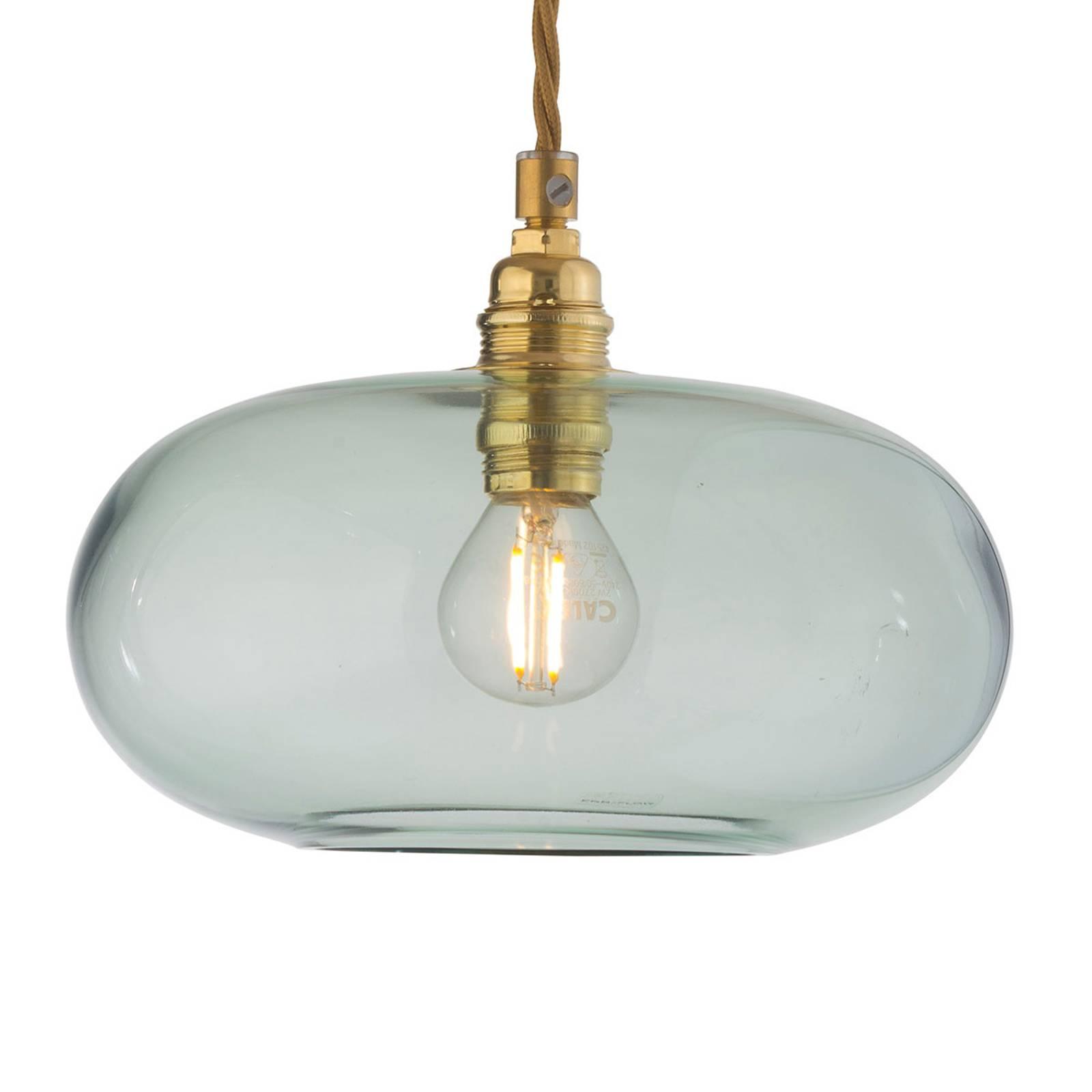 EBB & FLOW Horizon glas-hanglamp groen Ø 21 cm