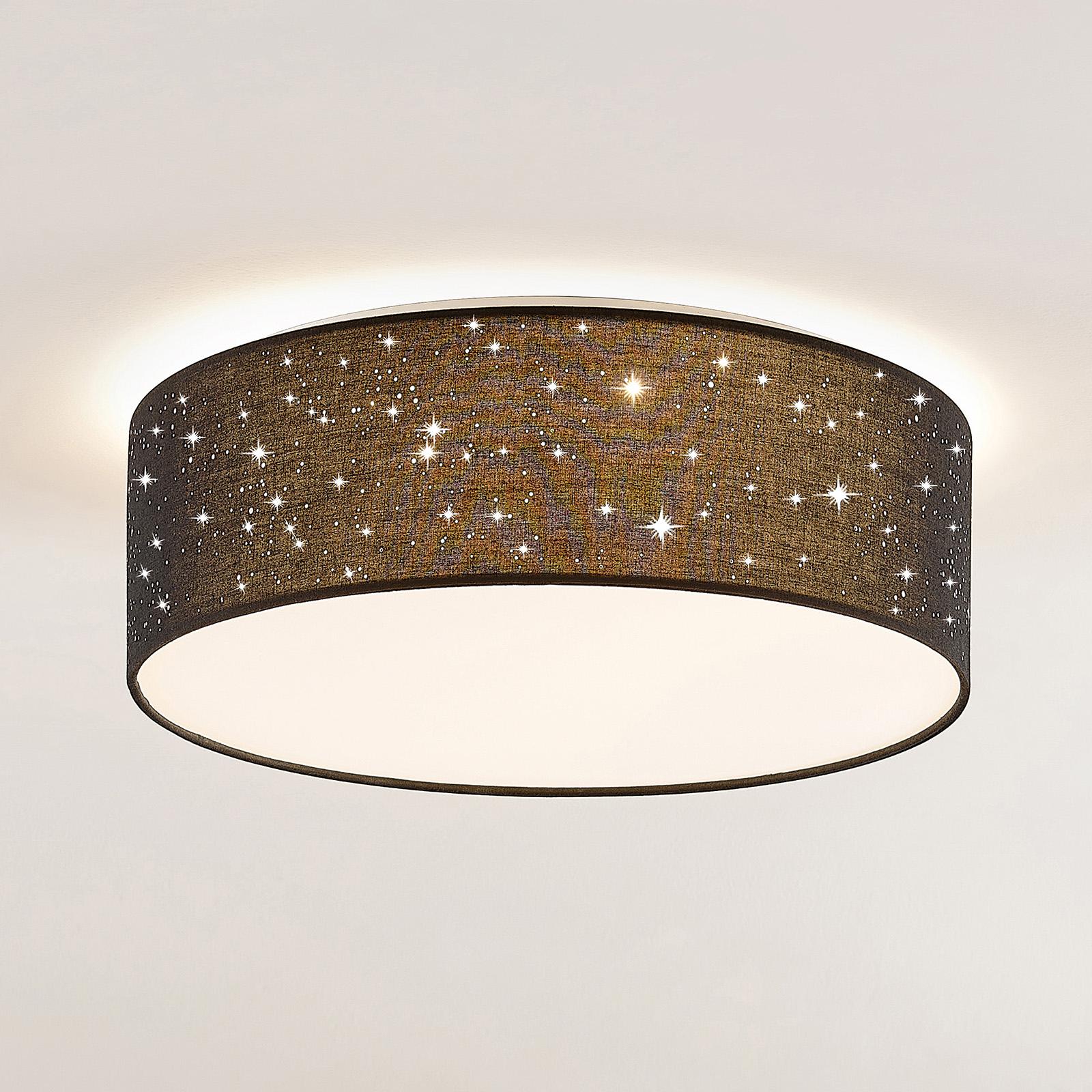 Lindby Ellamina lampa sufitowa LED, 40 cm, czarna