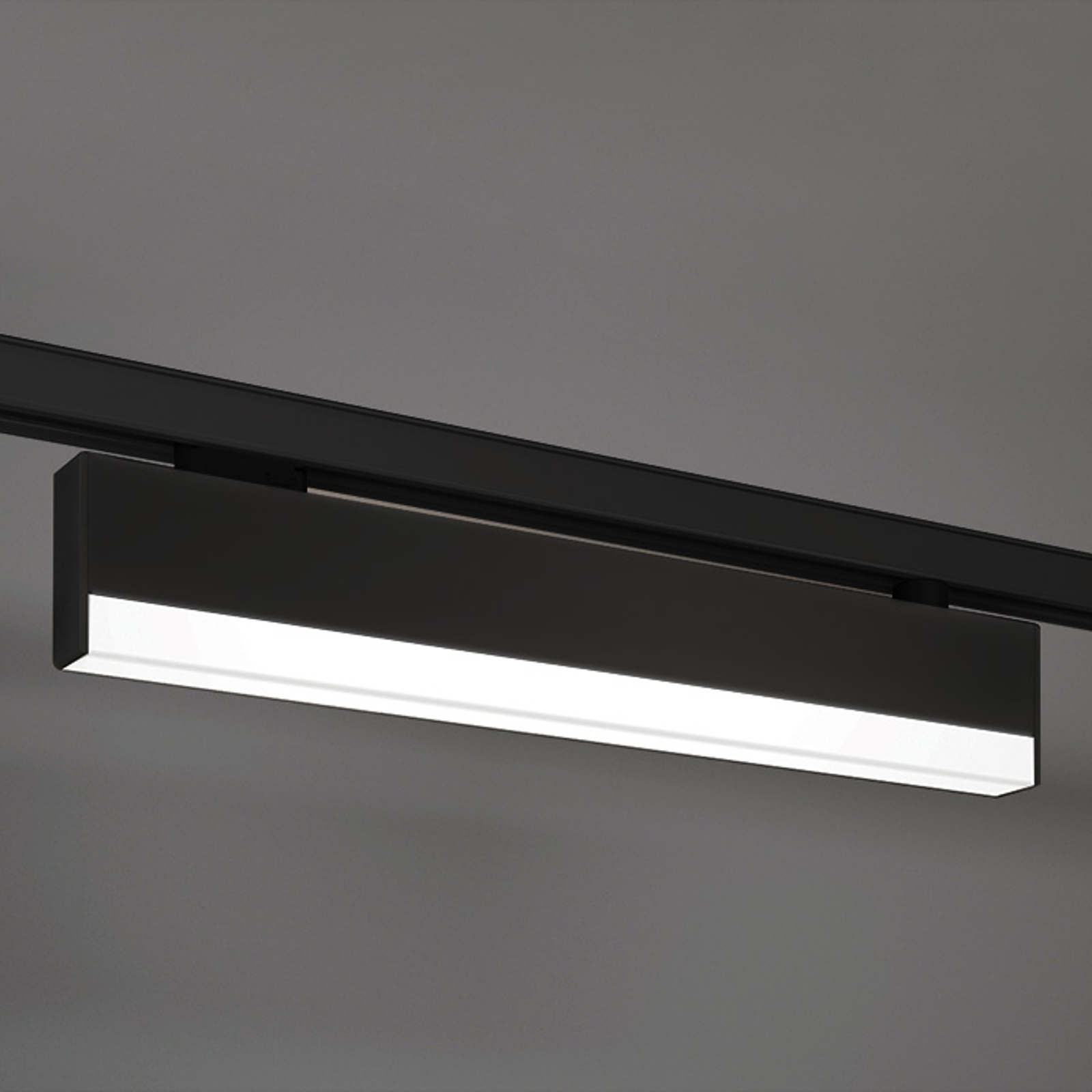 Attractive LED light for three-circuit track black_3039214_1