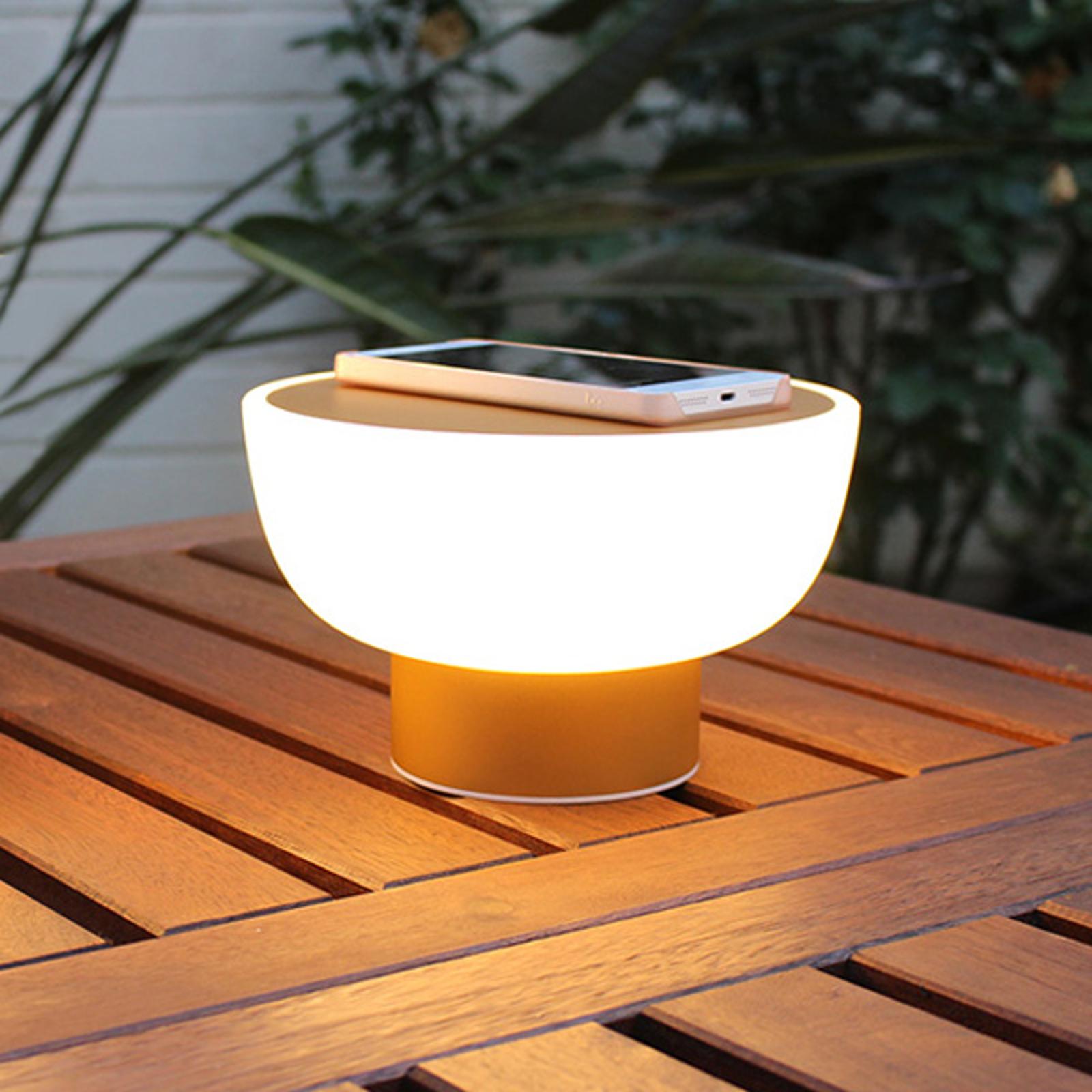 Lampada LED decorativa Patio dorata 20 cm