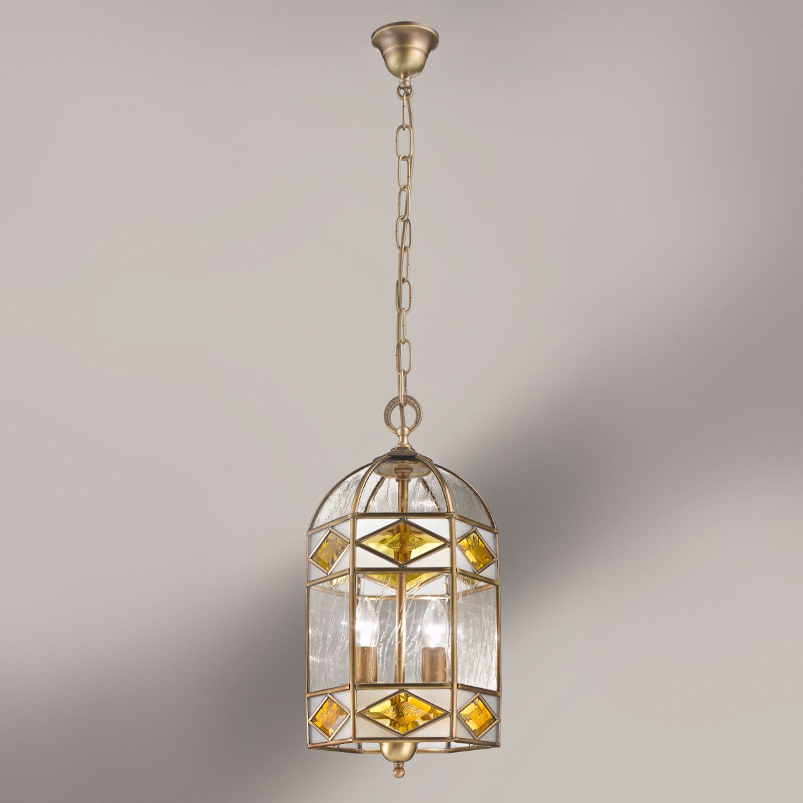 Emilia - hanglamp met kathedraalglas