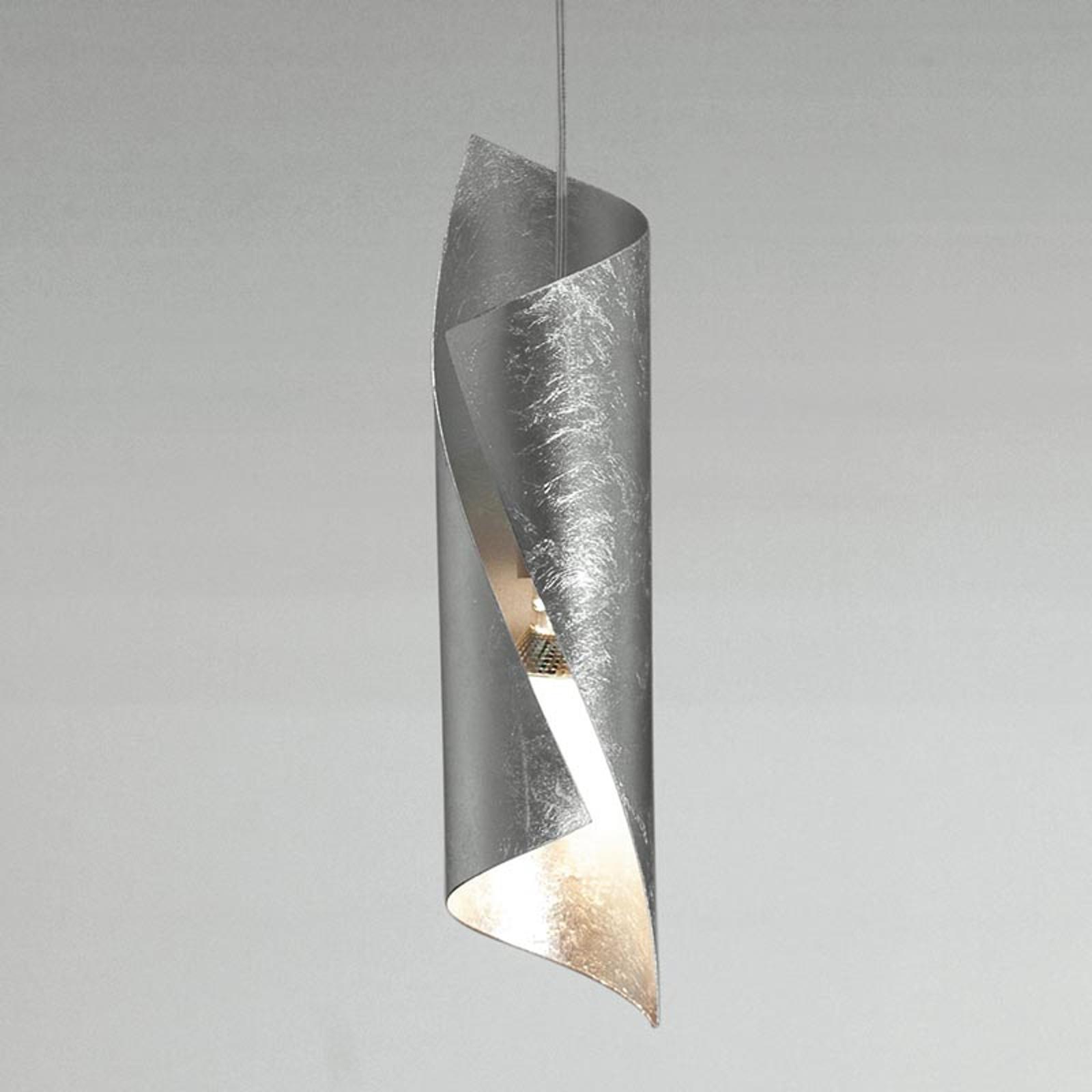 Drejet hængelampe Hué i sølv, en lyskilde
